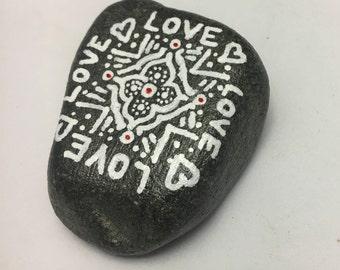 Love Design Painted Rock