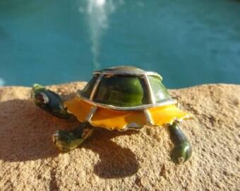 Vintage turtle vtg brooch jewerly broach pendant vintage