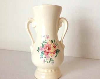 Royal Copley Rose Vase Vintage Bud Vase Shabby Chic Home Decor