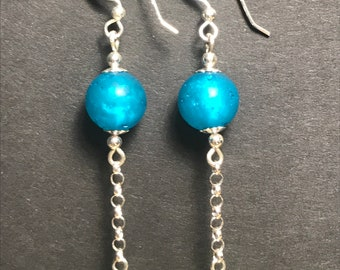 Japanese Acrylic and Silver Earrings