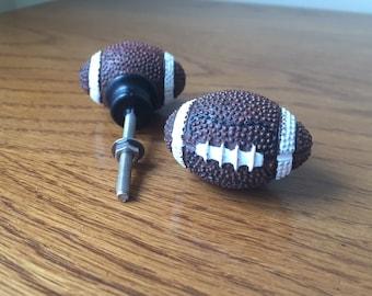 Sports knob, drawer pulls, pair of football, sports