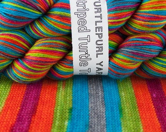 Nano - Ready to Ship by June 1st - Hand-Dyed Self-Striping Sock Yarn