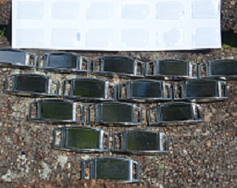 30 Blank Rectangle Charms for paracord bracelets or shoelace charms with epoxy stickers.