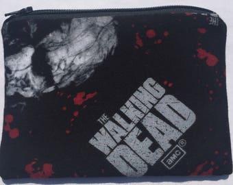 The Walking Dead Zipper Pouch: Zombie Apocalypse, Undead, Walkers.