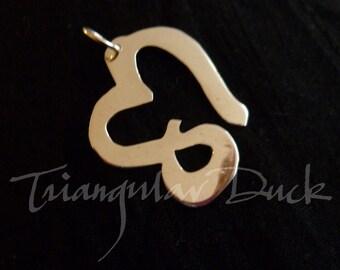 The Devotional Heart logo of Depeche Mode- Sterling Silver Pendant