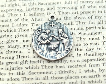 little medal planet thelittleprinceshop jewelry prince silver baptism the his en on medallion