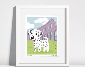 Dalmatian Puppy, Pula Arena - 8x10 art print
