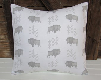 bison pillow cover/buffalo pillow cover
