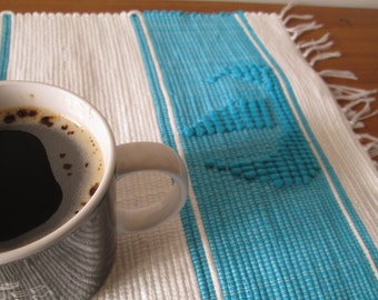Handmade woven placemats | Set of 2 | Home decor | Washable placemats |