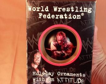 Vintage 1998 WWF Undertaker Ornament, Old School Wrestling, World Wrestling Federation