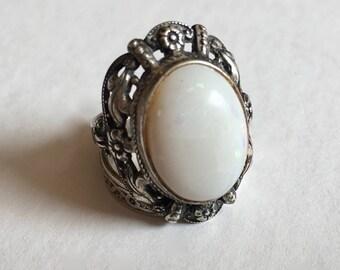 antique opal uncas ring, size 7.5