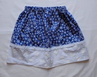 Girls Twirl Skirt - Blue Snowflake Skirt