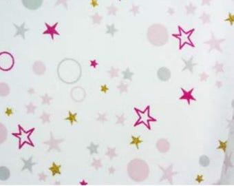 Jersey fabric stars and circles