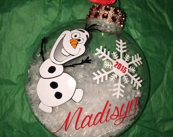 Disney Frozen Olaf Custom Ornament