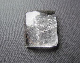Quartz Cabochon - Crystal Quartz Bead - Jewelry Supplies - Clear Quartz - Golden Rutilated Quartz