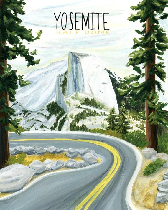 Yosemite, California National Parks Travel Poster