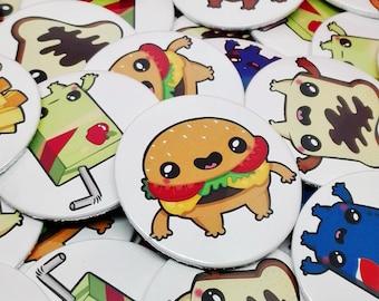 KAWAII FOOD PIN / Pin Button / Cute Pin / Kawaii Pin / Food Pins / Chapas