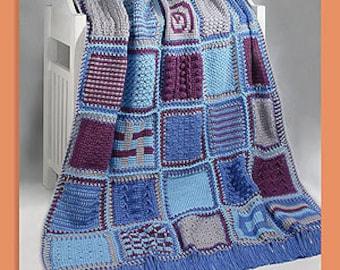 Tunisian Crochet Sampler Afghan pdf Pattern