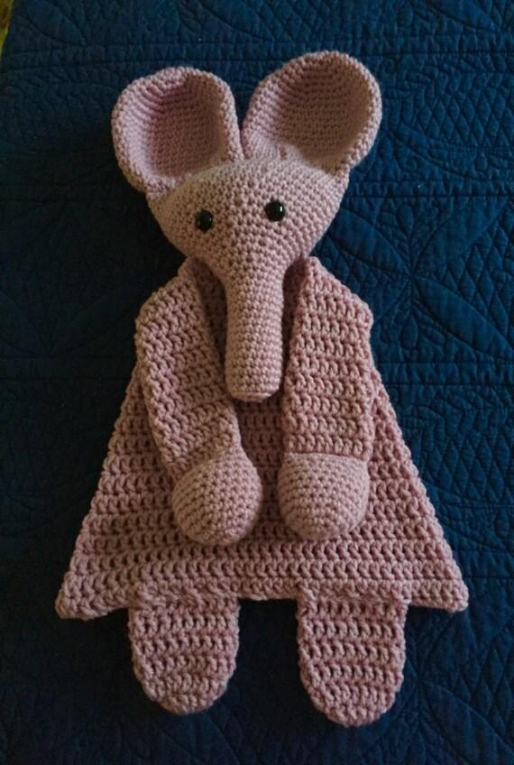 Soft Pink Elephant Rag Doll Toy/Lovey—SALE