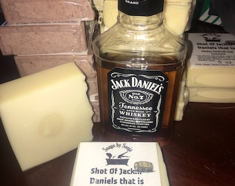 Jack Daniels Whiskey Handmade Soap, whiskey soap, tennessee whiskey soap bar, Father's Day gift, gift for dad, UNSCENTED