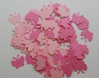 100 piece Pink and Light Pink Butterfly Confetti