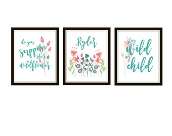 WIld Flower Printable Wall Decor