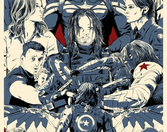 Captain America: The Winter Soldier - A4 Print / Poster