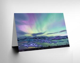 Card Greeting Aurora Borealis Northern Lights Gift CL1681