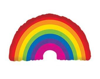 """36"""" Rainbow Balloon, High Quality Mylar Foil Balloon"""