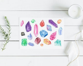 Watercolor Jewels DIGITAL DOWNLOAD