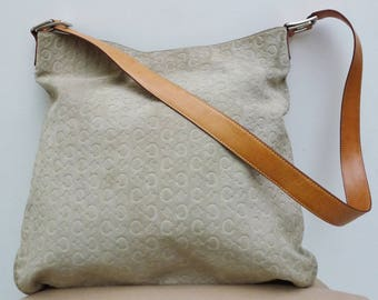 Celine suede leather monogrammed bag good condition