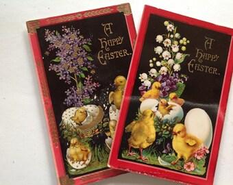 Two Vintage Easter postcards