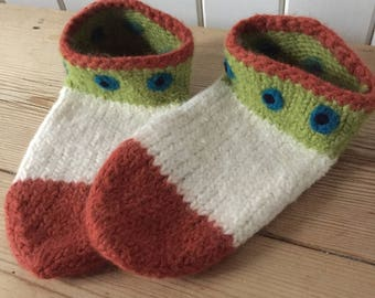 Handmade felted slippers