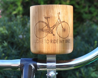 SALE item! Hand made wooden bicycle custom cupholders, bicycle accessories, cycling accessories, crafts, unique gifts, free shipping