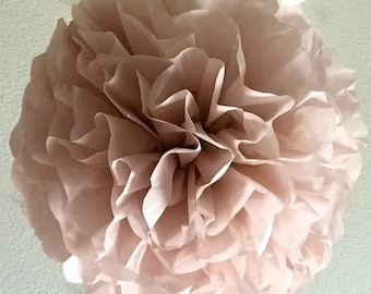 Large Tissue Paper Pom Pom - Dusty Pink - Rose Quartz - Vintage Pink -Muted Pink - Tissue Pom