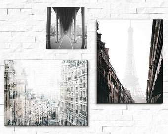 Gallery Wall Prints, Paris, Wall Art,  Gallery Wall Set, Neutral Home Decor, Home Decor, Paris Print, Travel Decor, Print Set