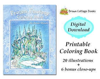 Frozen Fantasy Coloring Book By Annie Brown