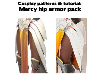 Printable Overwatch Mercy cosplay armor pattern pack tutorial - hip wings shells connectors foam worbla - digital download PDF ZIP costume