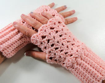 Crochet Pattern - Delicate Lace Fingerless Gloves Crochet Pattern #408 - Fingerless Glove Crochet Pattern - Instant Download PDF