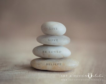 Live Love Be Loved Believe, Inspirational Print, Motivational Words, Intention, Manifesto, Zen Art, Yoga Art, Meditation Space