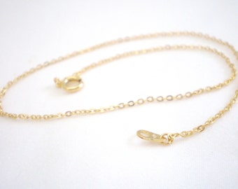 """Finished Chains, Destash Chain, 11"""" Chain, Gold-finished Chain, Bargain Supplies, Anklet Chain"""