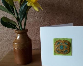 Clay celtic circle card