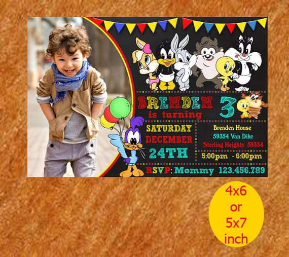 Baby Looney Tunes Printable Baby Looney Tunes Invitation