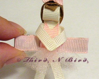 Ballerina Hair Clip Ribbon Sculpture Instruction Set