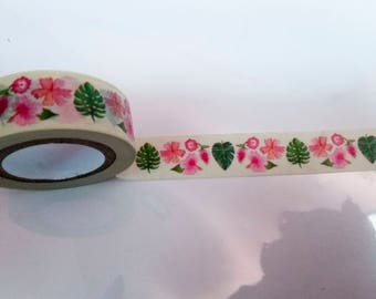 Tropical Pink Hibiscus Flower Washi Recollections