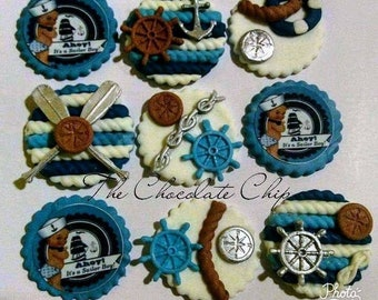Fondant Baby Sailor  toppers