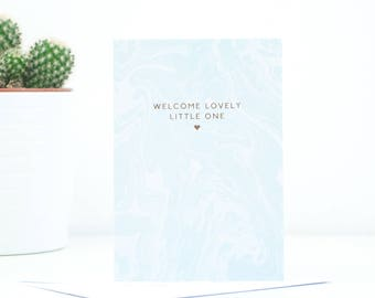 Welcome Lovely Little One Greetings Card