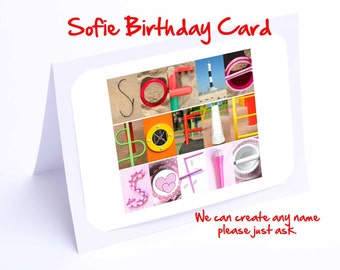 Sofie Birthday Card - Personalised