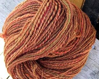 Peak Color 280 Yards Handspun Hand painted Wool Yarn