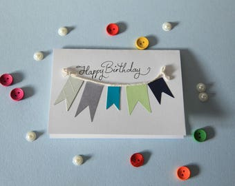 Happy Birthday bunting card